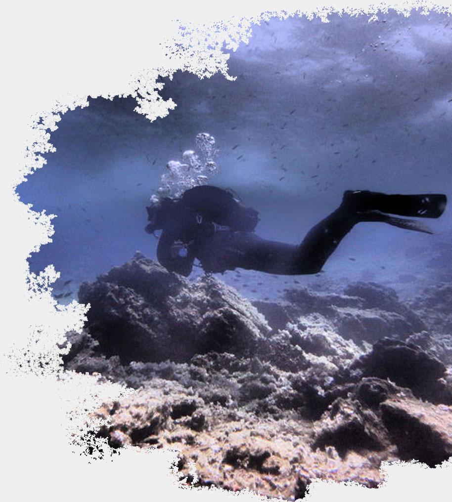 Black rock dive sites in naxos Scuba Diving in Naxos PADI Nima Dive Center