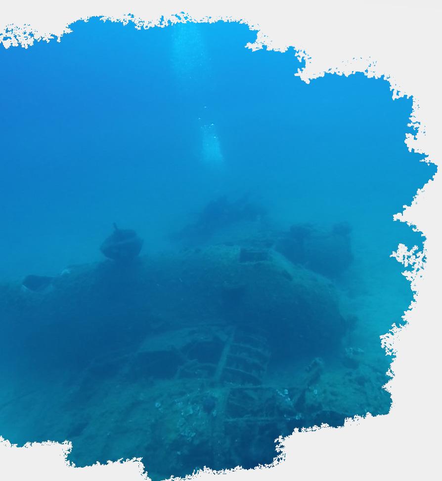 Bristol beaufighter plane wreck dive sites in naxosScuba Diving in Naxos PADI Nima Dive Center