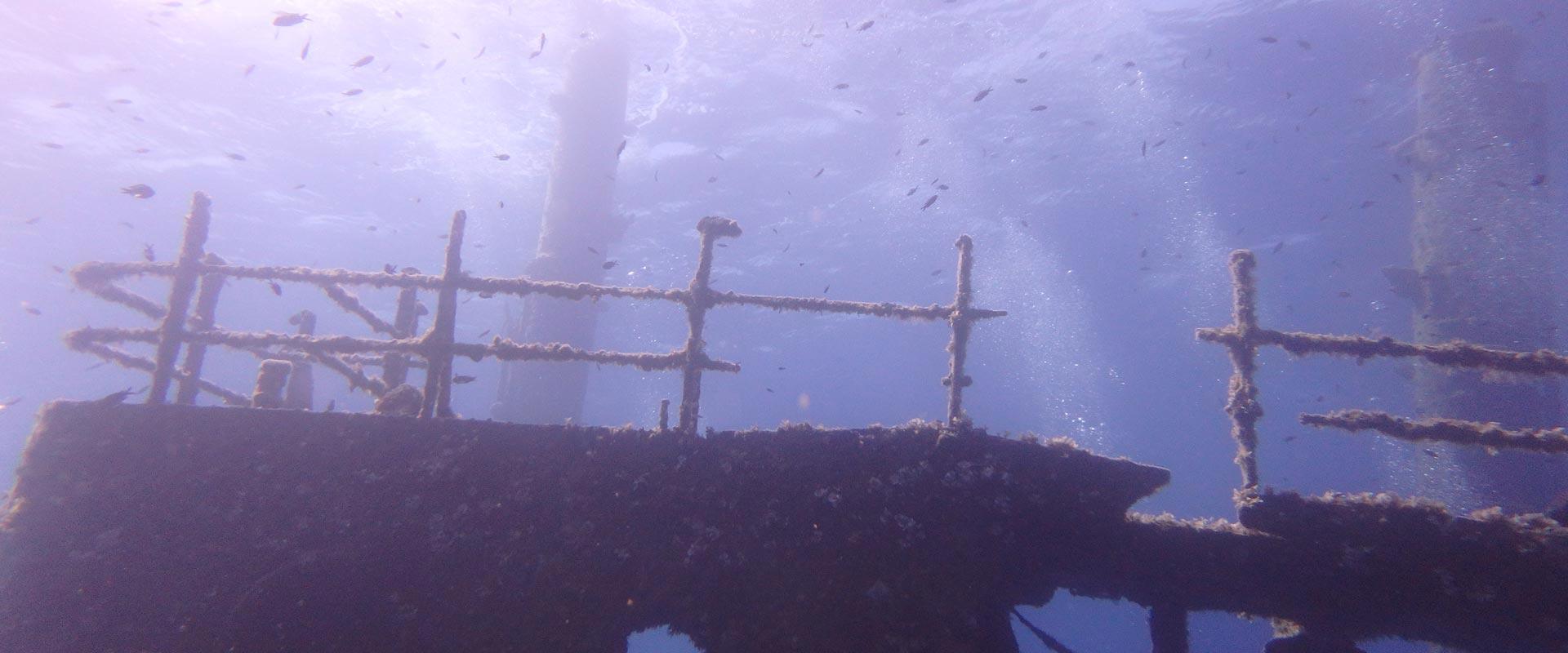 Marianna Wreck Scuba Diving in Naxos PADI Nima Dive Center